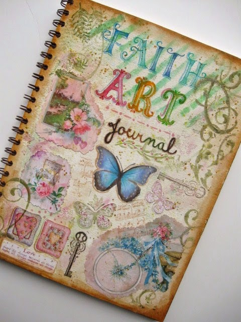 Book Cover Watercolor Ideas : A palette full of blessings faith art journal cover