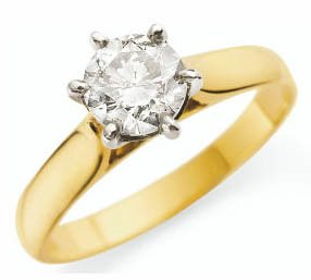 engagedment ring gold