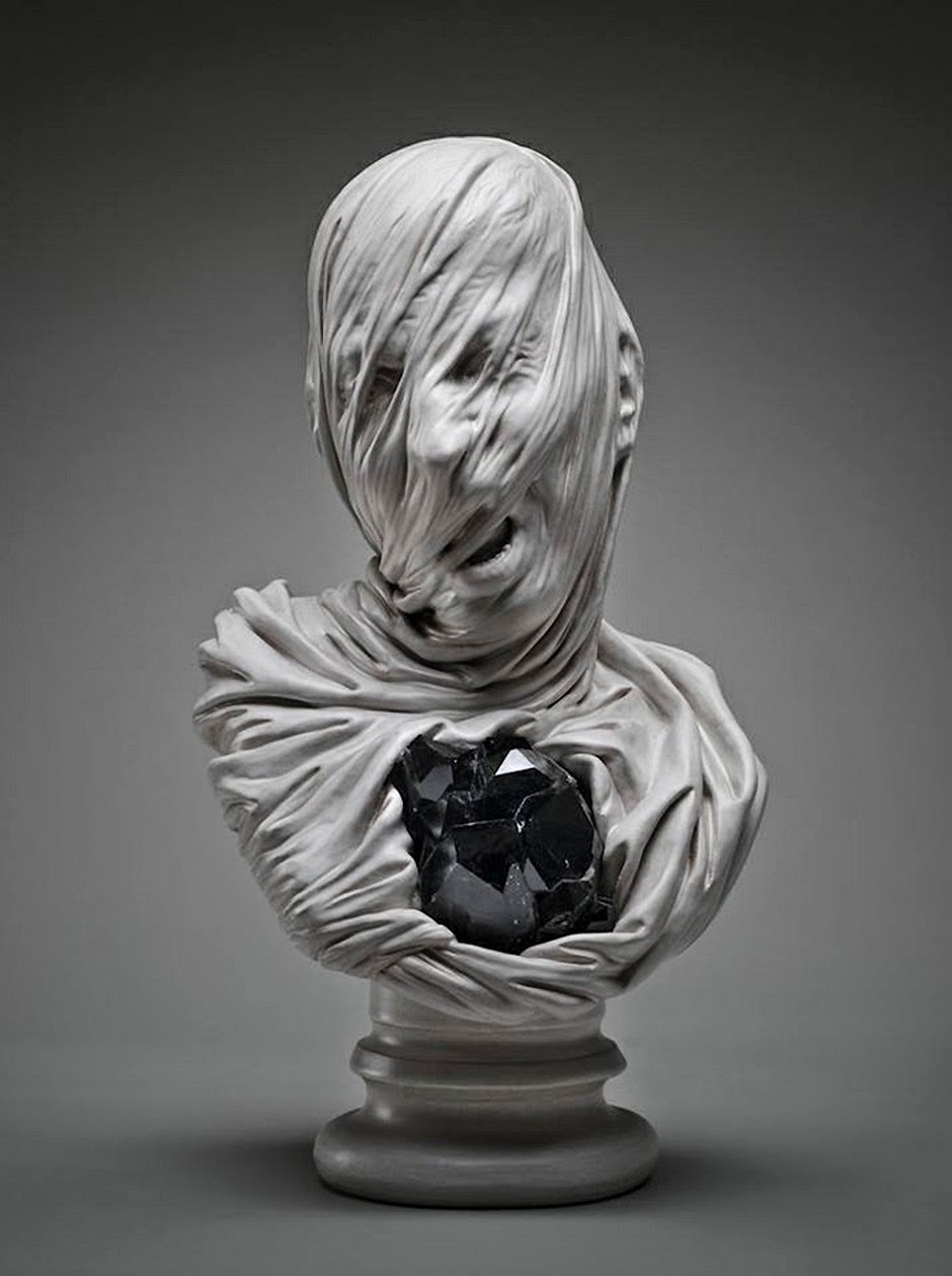 Simply creative veiled souls sculptures by livio scarpella