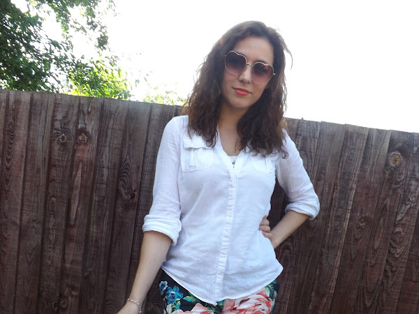 What Cat Wore: Floral Trousers & White Shirts