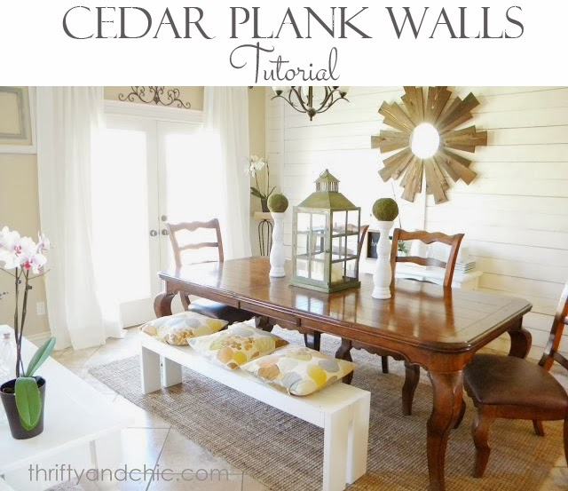 Cedar Planked Wall Tutorial
