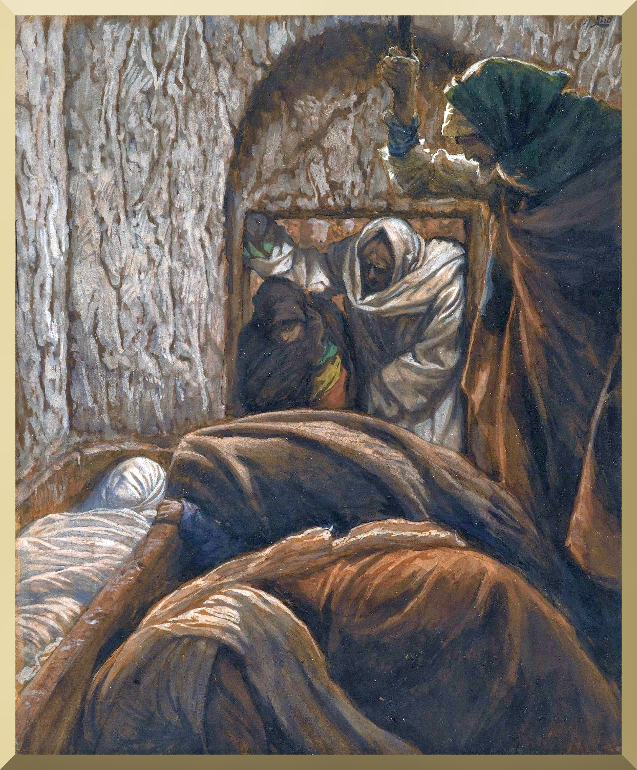 """Jesus in the Sepulchre"" -- by James Tissot"