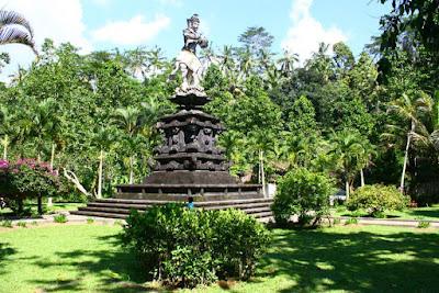 A Statue of Balinese Hero in Goa Gajah Gianyar
