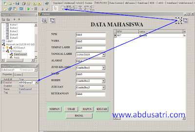 tutorial DBGrid di Form Delphi