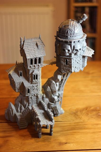 Skullvane Manse Warhammer scenery - unpainted model