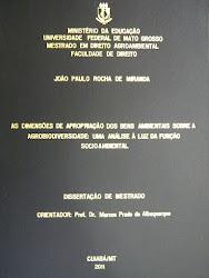 DISSERTAÇÃO DE MESTRADO DO PROFESSOR MIRANDA