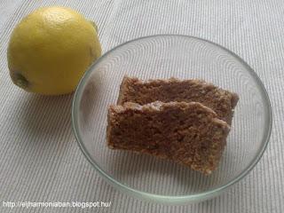 citromos kenyér teljes kiörlésű liszttel, citromos kenyér tojásmentes,