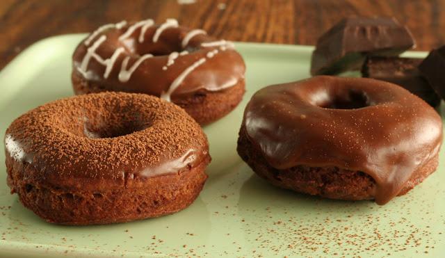 Chocolate espresso cake donut recipe