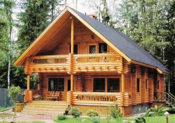 Casas de madera elementos de jardiner a etc madera de - Casas de madera natural ...