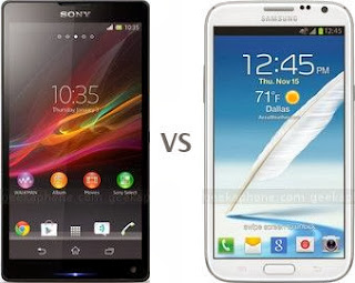 Sony Xperia ZL VS Samsung Galaxy Note II Comparison