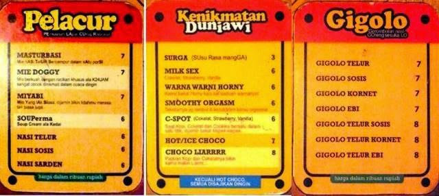 Daftar menu Kedai24