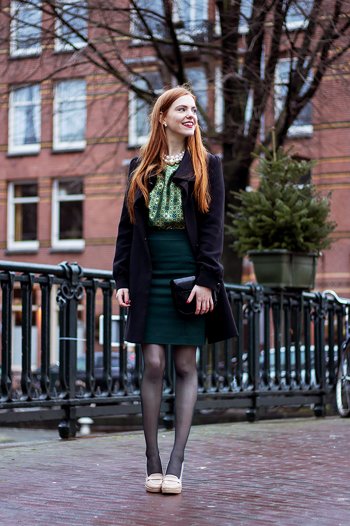 Festive Christmas or New Years Eve budget fashion blogger outfit