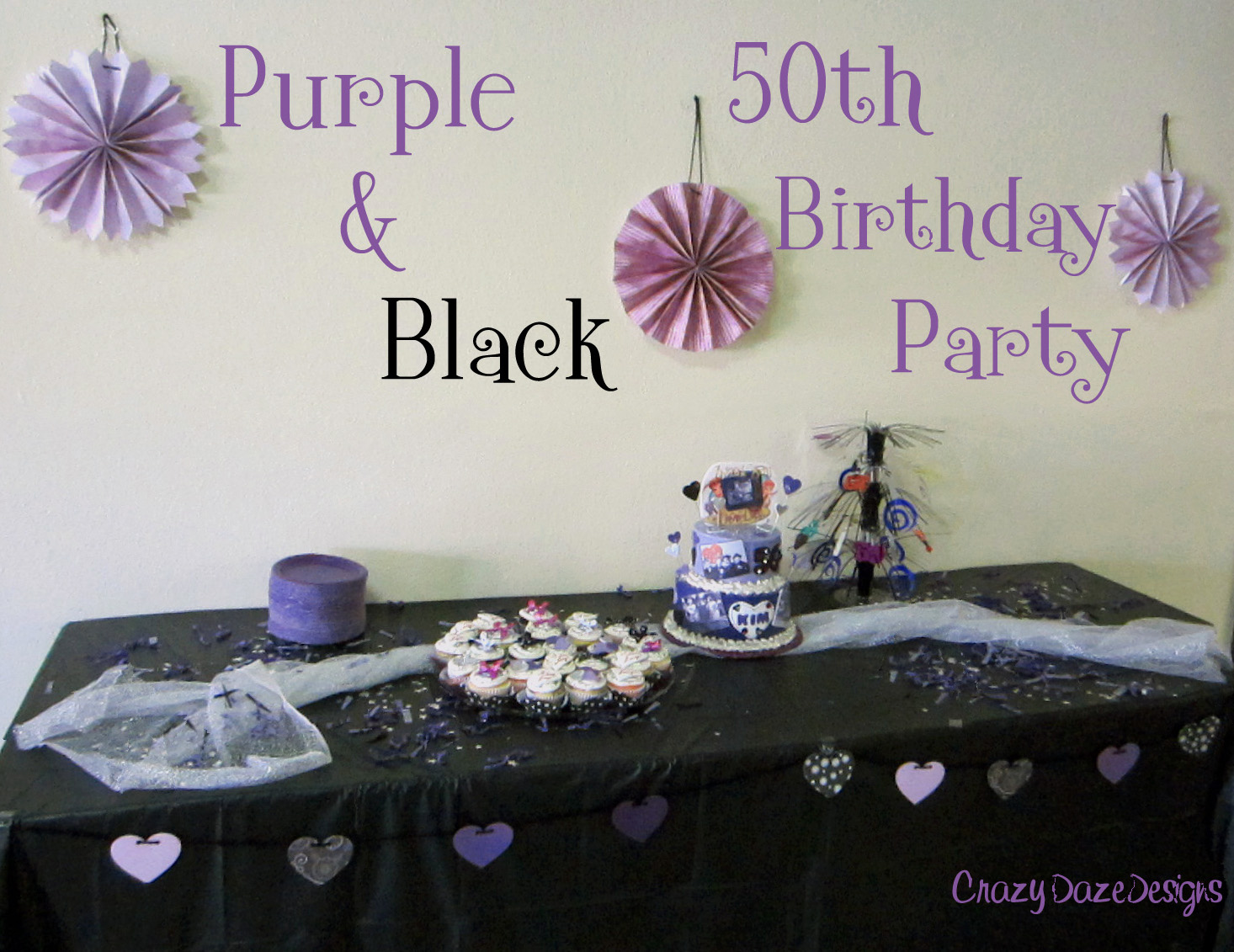 50th birthday party decorating ideas for Table decoration 50th birthday