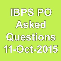 IBPS PO Asked Questions 2015