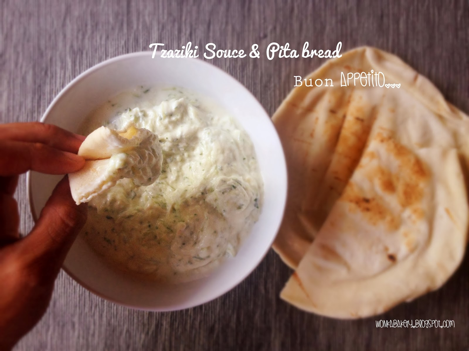 tzaziki & pita bread
