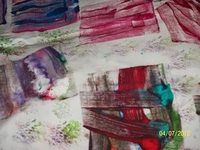 MONO PRINTING WITH FABRIC PAINTS