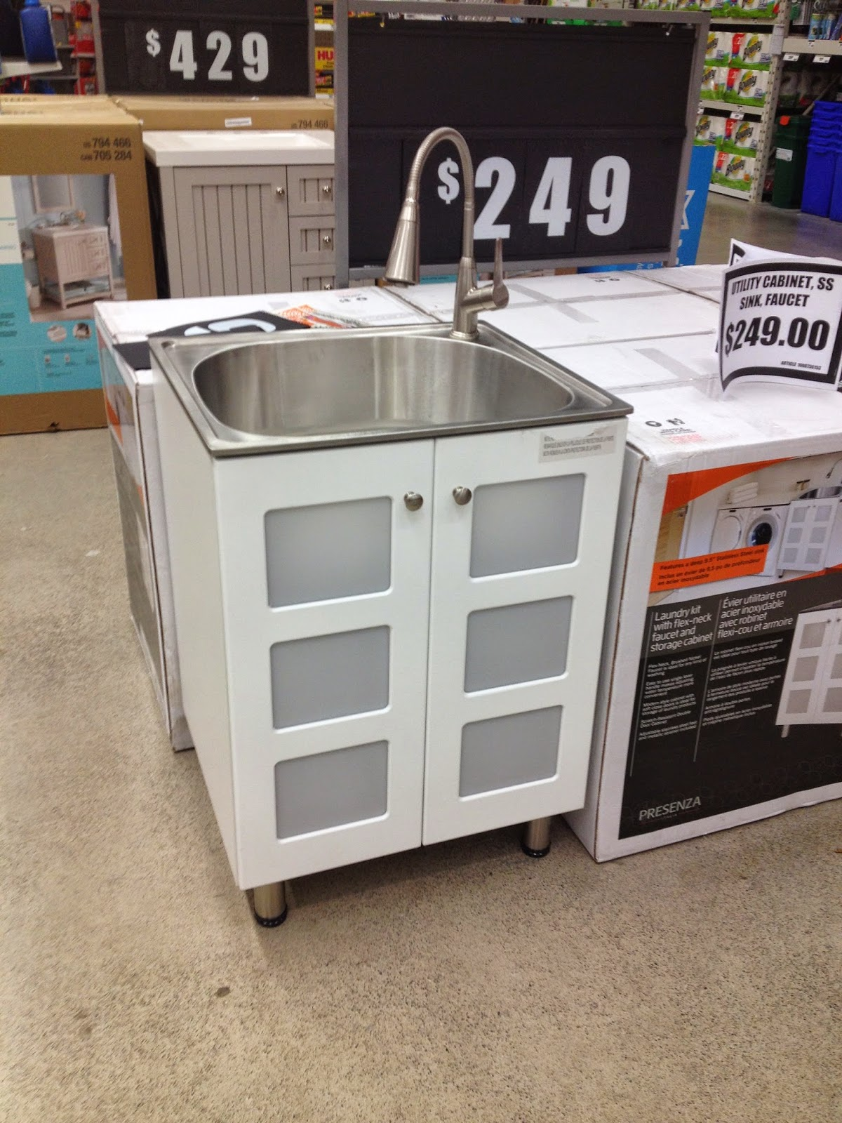 Presenza Utility Sink : While I liked the price of this option as well as some of the clear ...