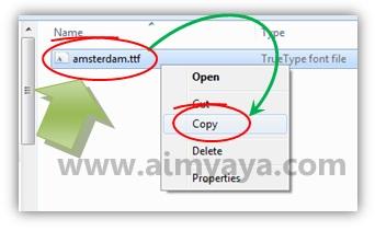 Gambar: Menyalin (copy) file yang ada di dalam file zip