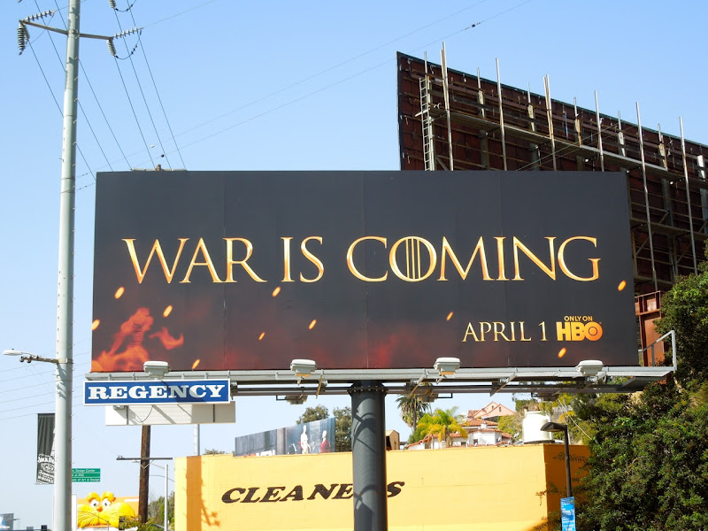 War is coming billboard