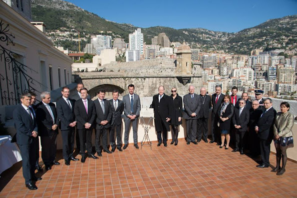 Prince Albert II and Princess Charlene of Monaco attended the inauguration of the area where the new Petits Quartiers du Palais building will be located