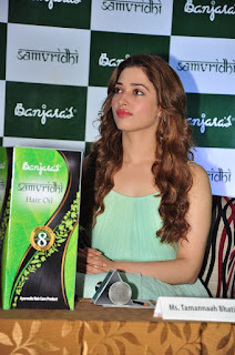 Tamanna Bhatia Launches Banjara Samvridhi Hair Oil Photos