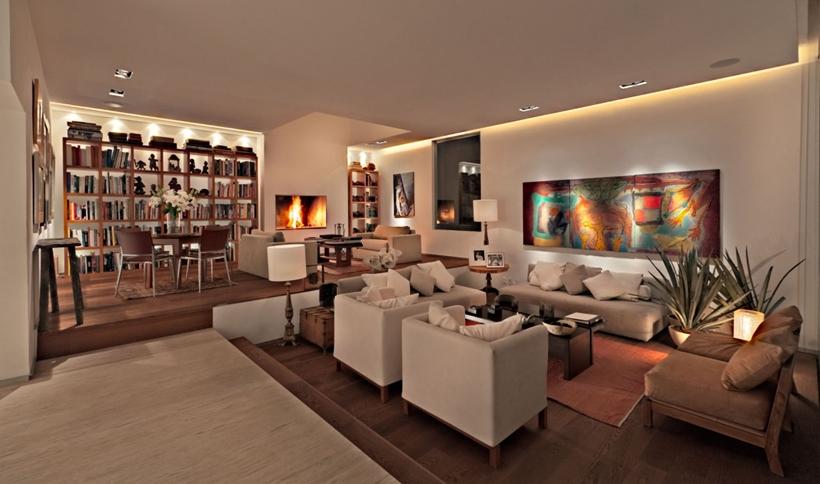Modern interior design with light scheme