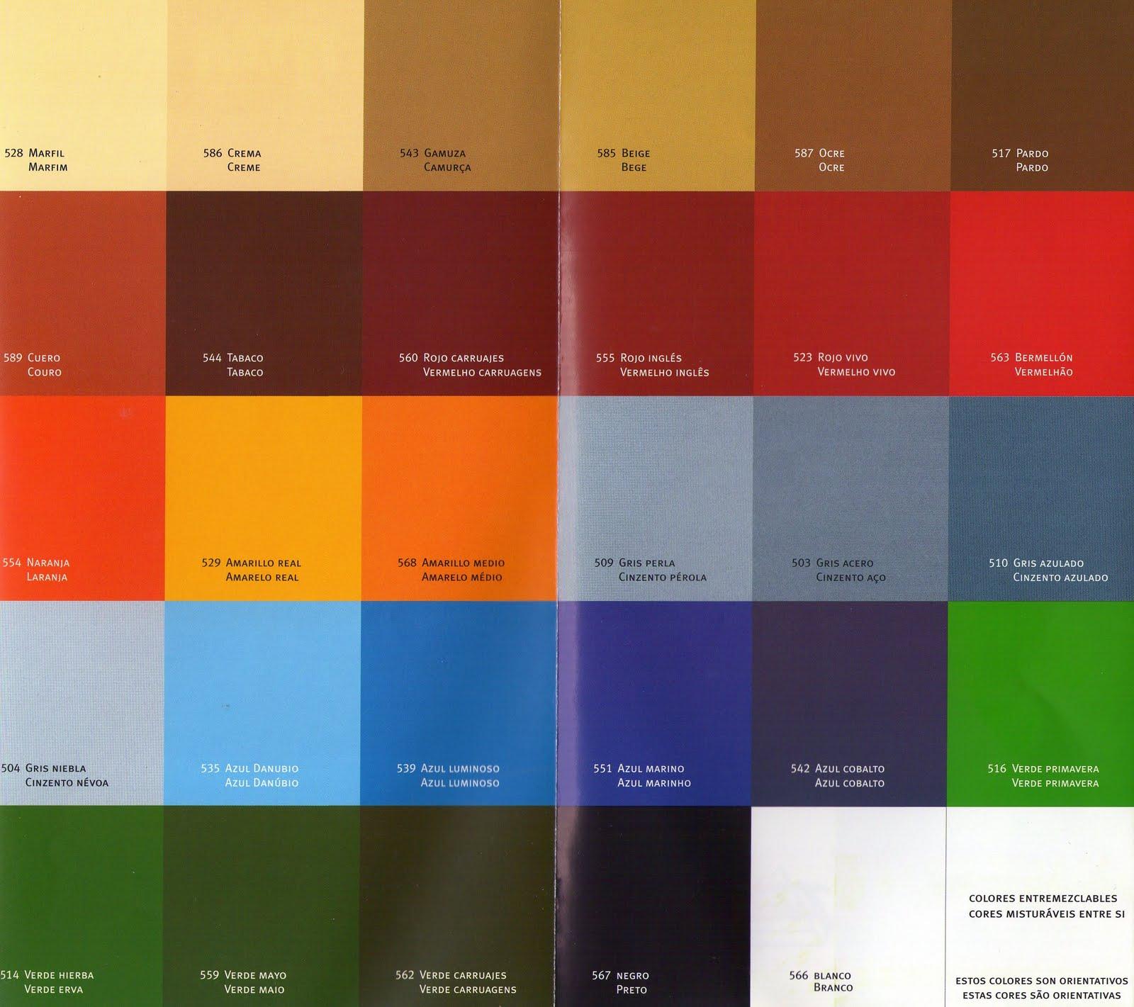 Gama de colores para pintar imagui for Gama de colores para pintar paredes
