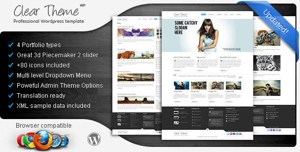 Clear Theme - Wordpress Theme Free Download by ThemeForest.