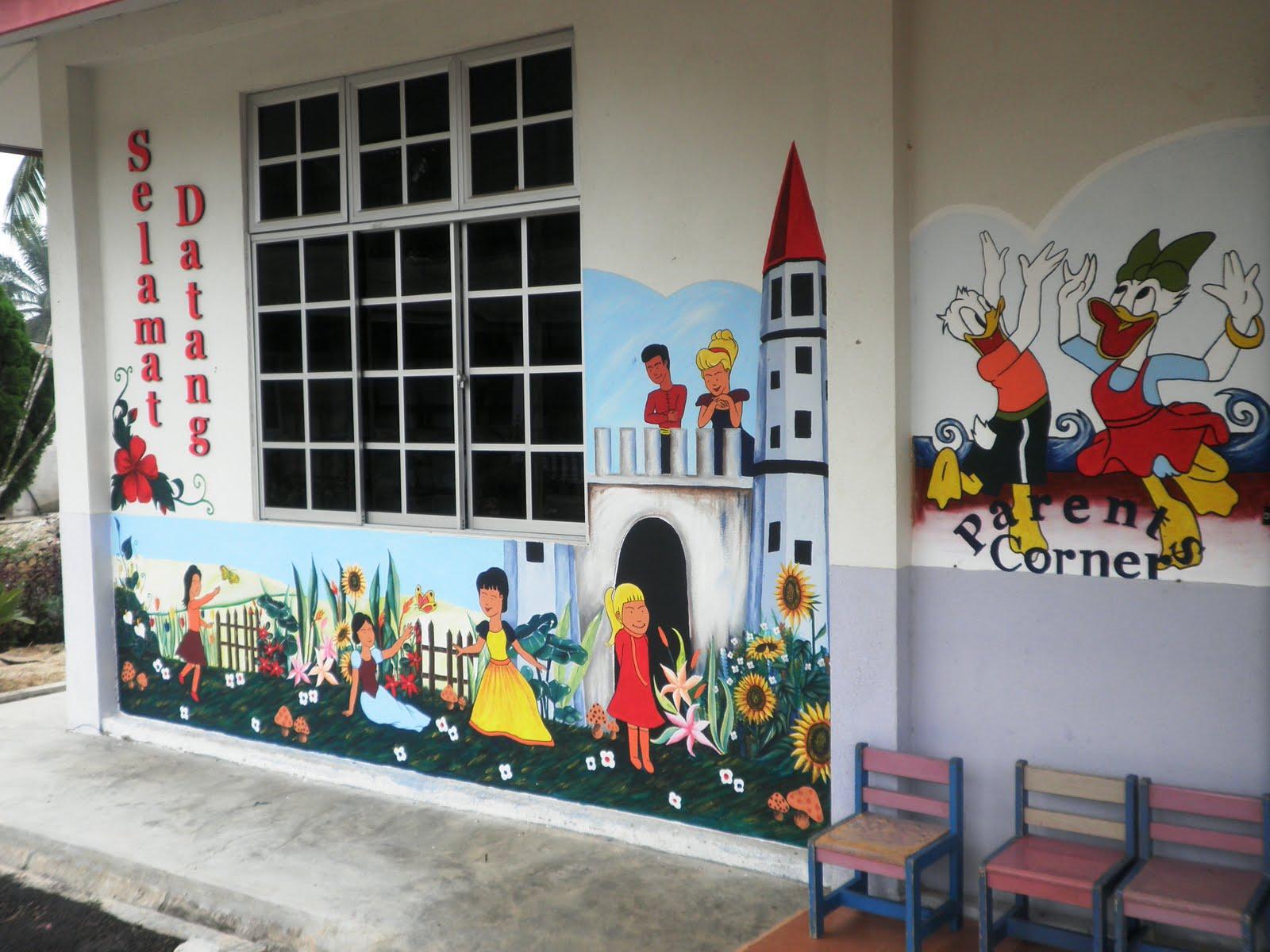 Tabika kemas redong 01 for Mural tadika