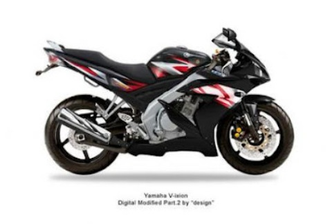 Gambar Modifikasi Motor Yamaha Vixion New Terbaru Hitam Balap