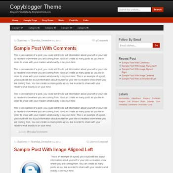 CopyBlogger blog template. clean and minimalist design blogger template