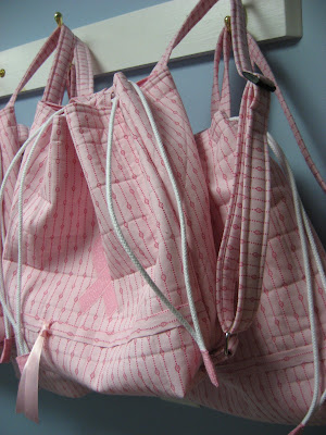 Quilted Cancer Walk Backpack Bags