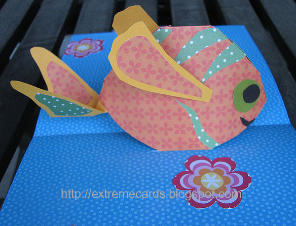 Pop Up Fishing : Fish pop up card