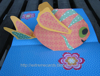 fish pop up card