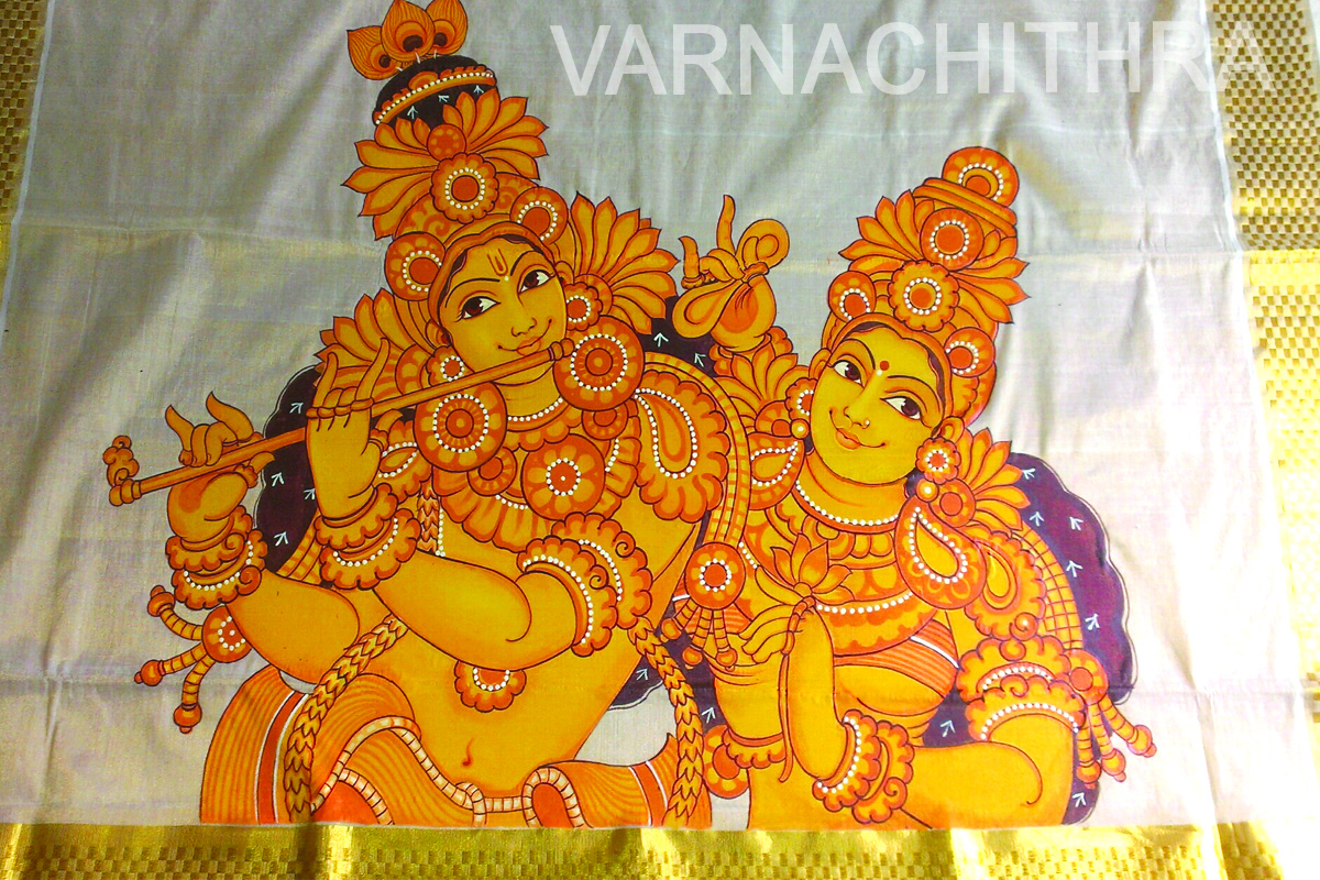 Varnachithra sarees mural for Mural designs