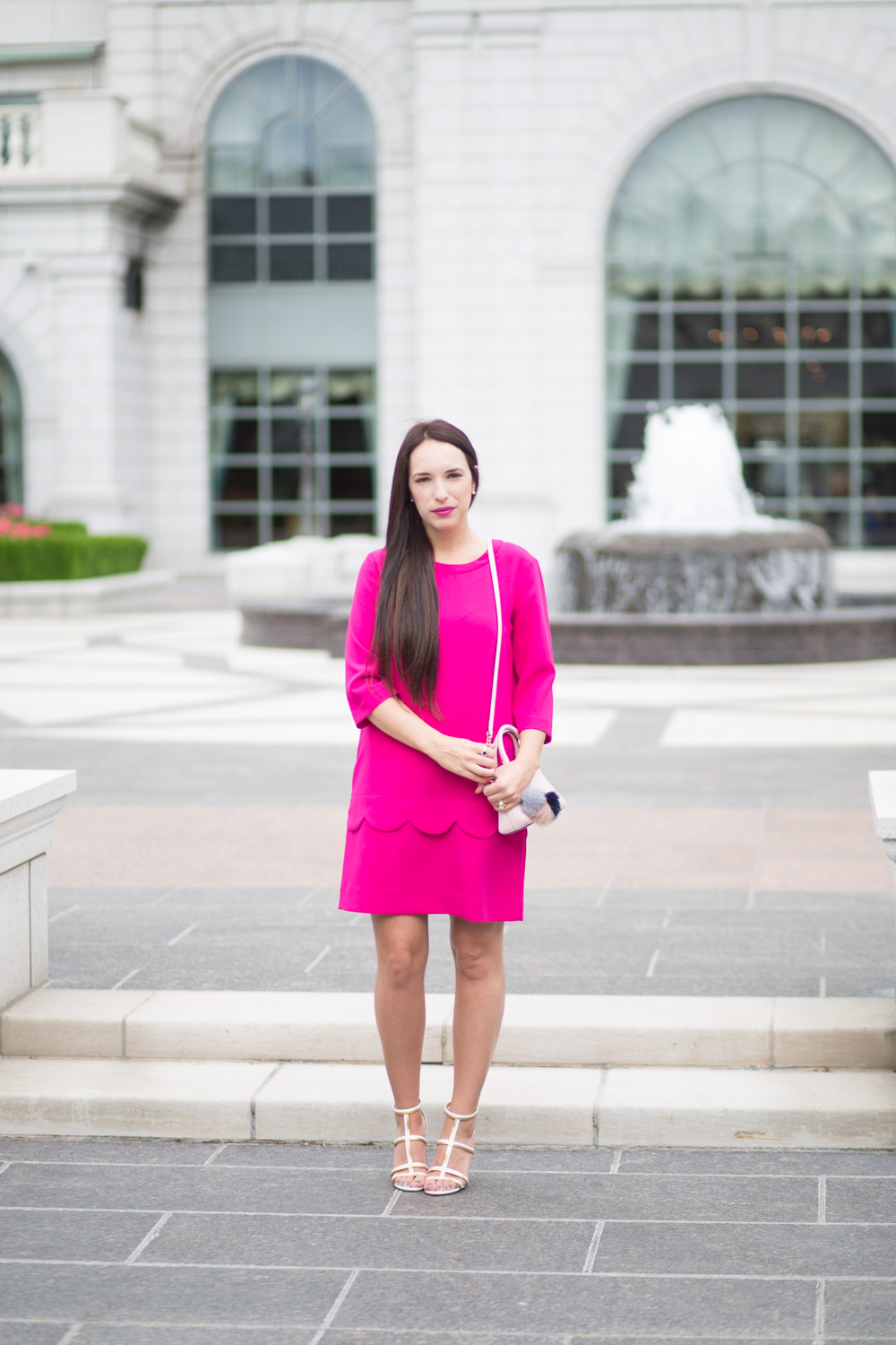 His and Her Pink Outfits.  Kate Spade Dress Review