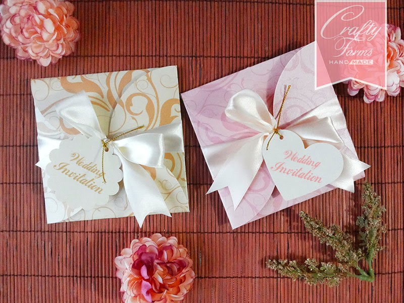 Pink and Gold Floral Petal Fold Wedding Cards | CraftyFarms