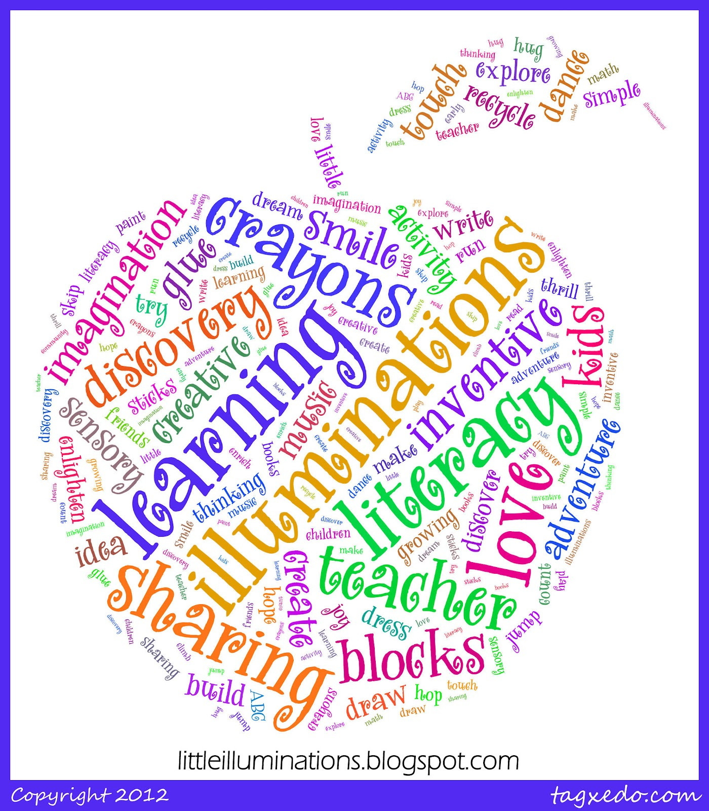 little word cloud with...