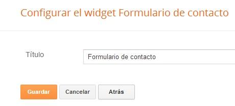 Configuracion de gadget formulario de contacto