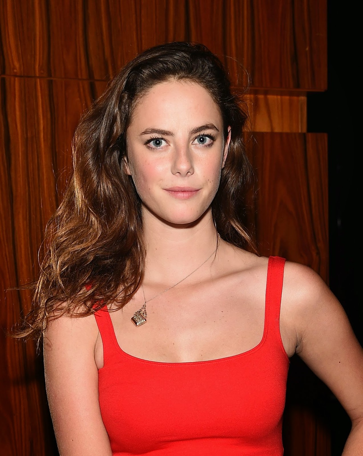 Kaya Scodelario shows off curves in a red dress at 'The Equalizer' New York City premiere