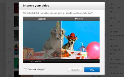YouTube permite mejorar los vídeos en un solo clic