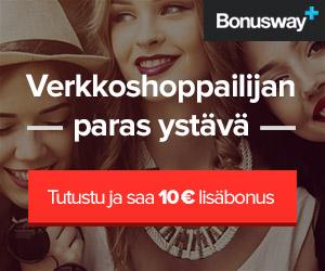 Bonusta verkko-ostoksistasi: