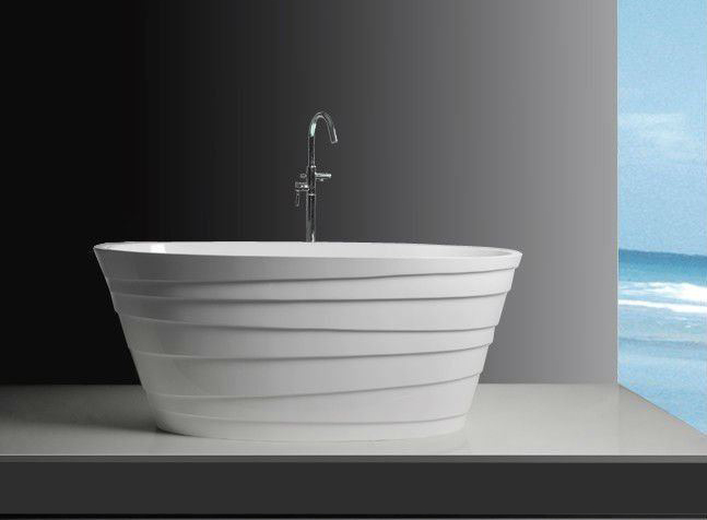 "70"" Elysium Solid Surface Bathtub"