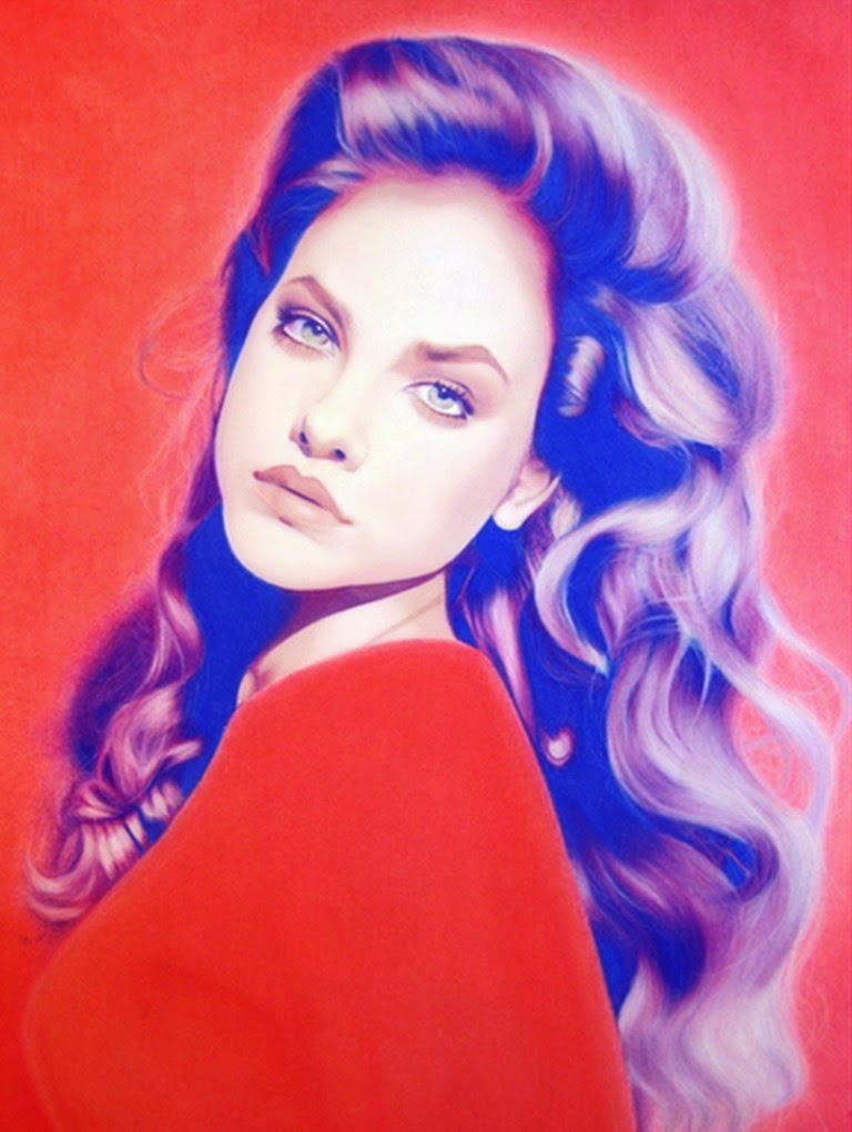 dibujos-pintados-a-lapiz-de-color-de-mujeres