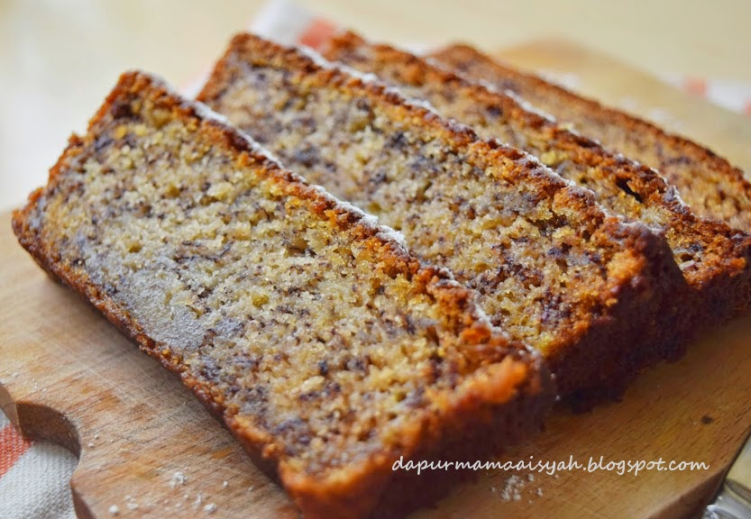Moist Banana Cake (no mixer!)/ Bolu Pisang Moist Tanpa Mixer