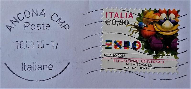 francobollo dedicato all'EXPO di Milano 2015