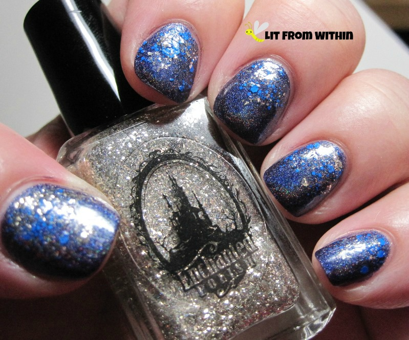 Glitter tops with Enchanted Polish Dark Fantasy, Amazing, and Sephora X TNT