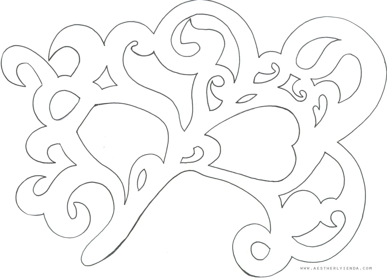 Freebies : Filigree mask template / vector | aestherlyienda