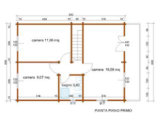 Progetti di case in legno casa a due piani 103 mq balcone for Moderni disegni di case a due piani