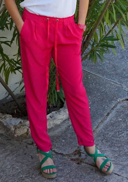 pantalones verano rosas